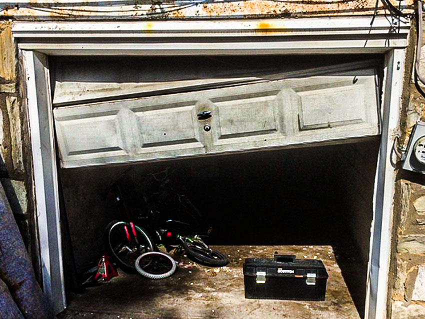 Has your garage door gone off track?
